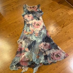 KOMAROV DRESSY DRESS WITH LONG MATCHING SHAWL